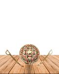 """Escudo con Espadas 8""""  SLV19-45"""