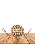 """Escudo con Espadas 10""""  SLV19-46"""