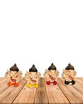 "Set Figura Ganesh  Poliresina  2"" JI19-406"