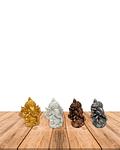 "Set Figura Ganesh  Poliresina  2"" JI19-407"