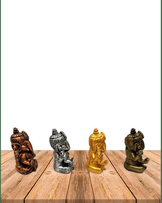 "Set Figura Ganesh  Poliresina  2,9"" JI19-410"