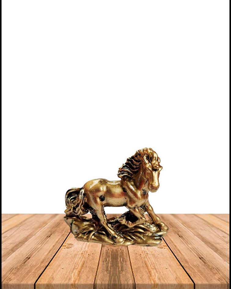 """Figura  Set de Caballos Dorados 3""""  JI19-175"""
