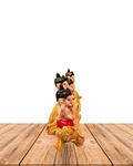 "Set Figura Ganesh  Poliresina Pedestal   4,5"" JI19-411"