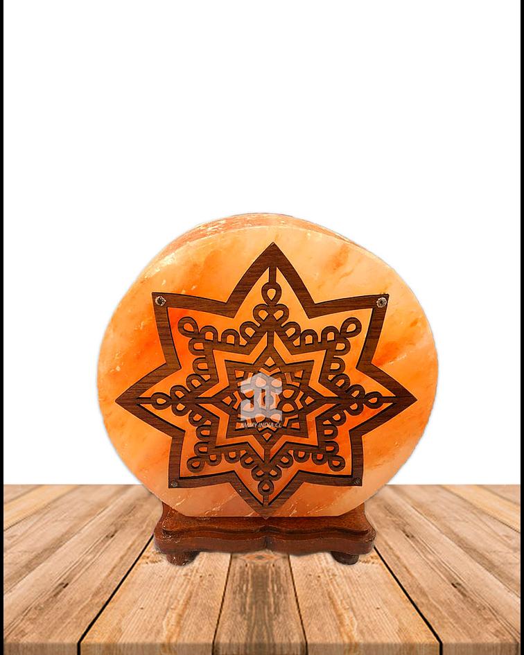 """Lampara de Sal Diseño  3 Estrellas N°8  9"""""""