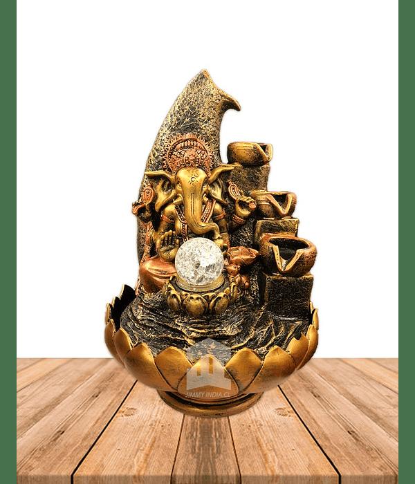 "Pileta  Ganesh con Cuencos Grande JI19-049 15"""