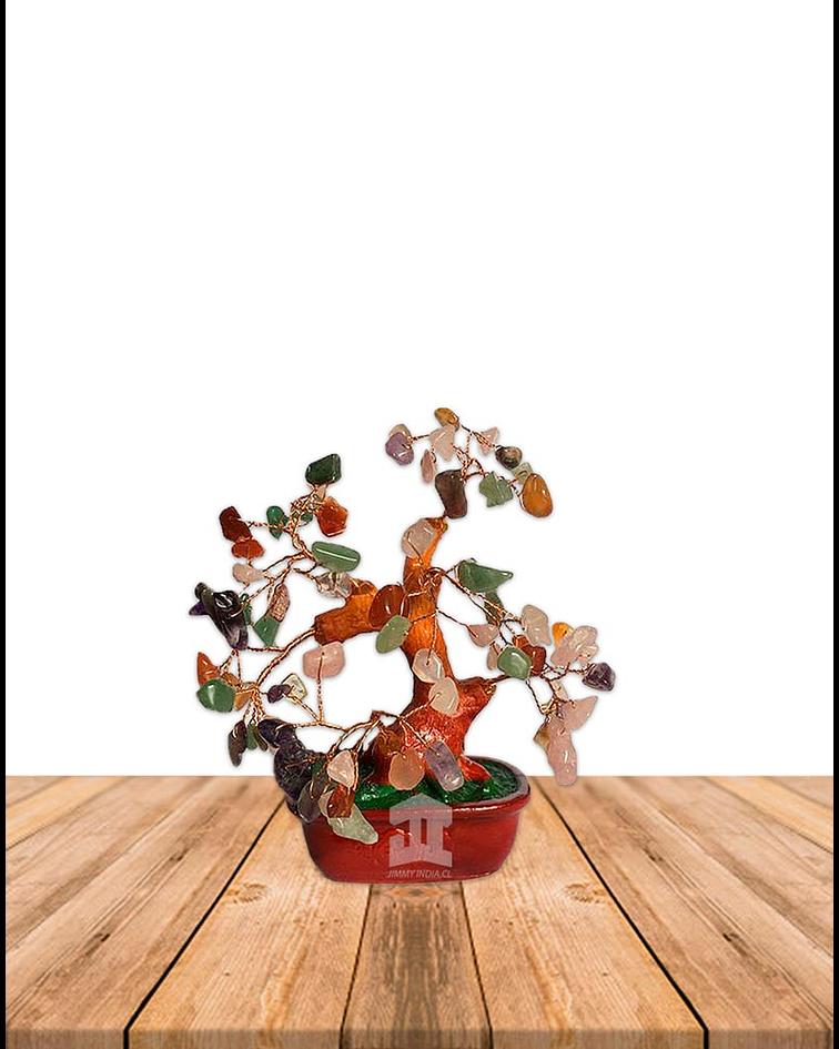 Mini Arbol de Piedras de Ámbar JI19-476