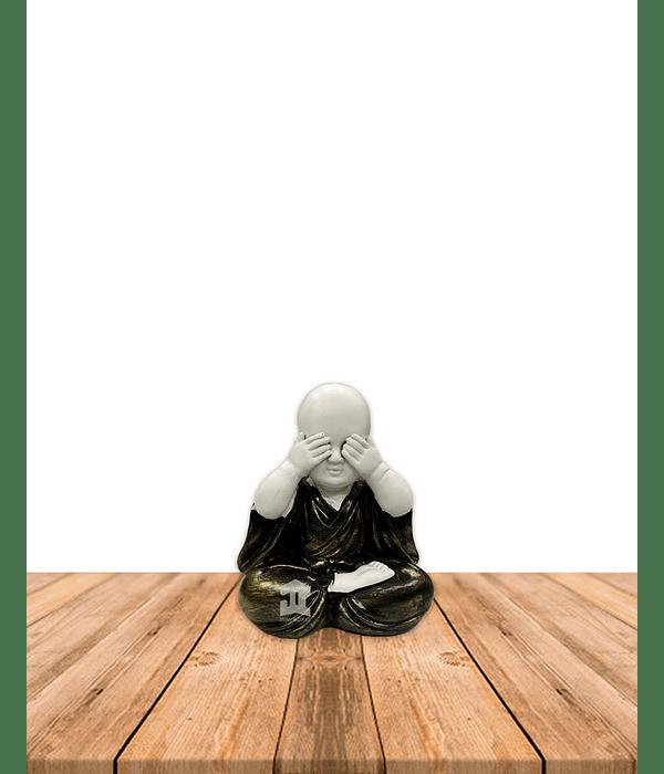 """Figura Buda  Ciego, Sordo y Mudo, Poliresina 5"""" JI21-29"""