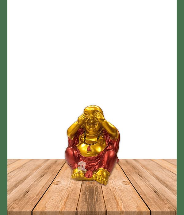 """Figura Buda Sonriente Dorado  4"""" JI21-28"""