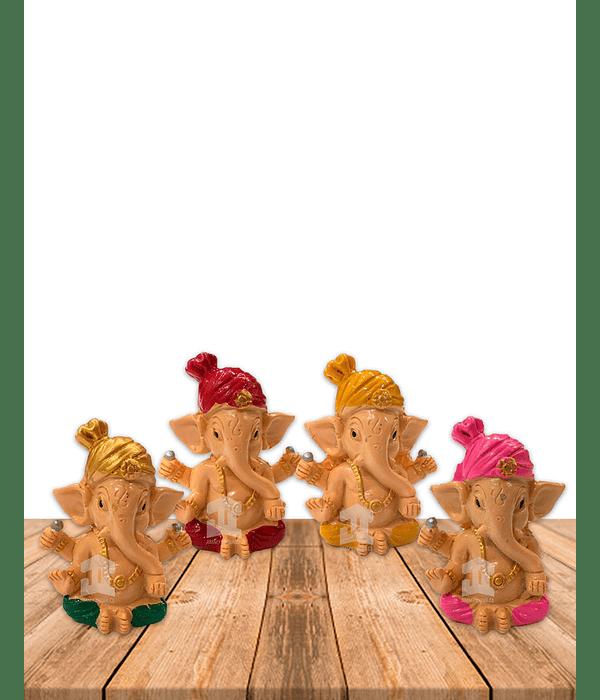 "Set Figura Ganesh  Poliresina  2,5"" JI21-50"
