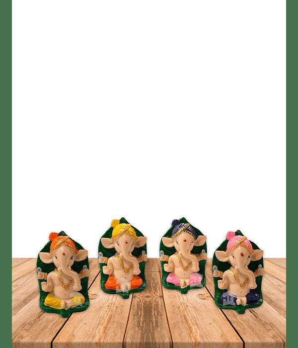 "Set Figura Ganesh  Poliresina 2,9"" JI21-52"