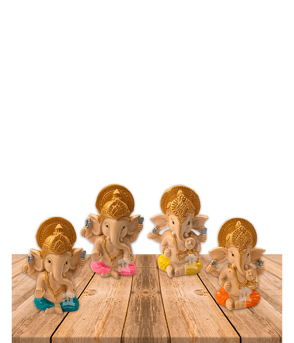 "Set Figura Ganesh  Poliresina 2,9"" JI21-53"