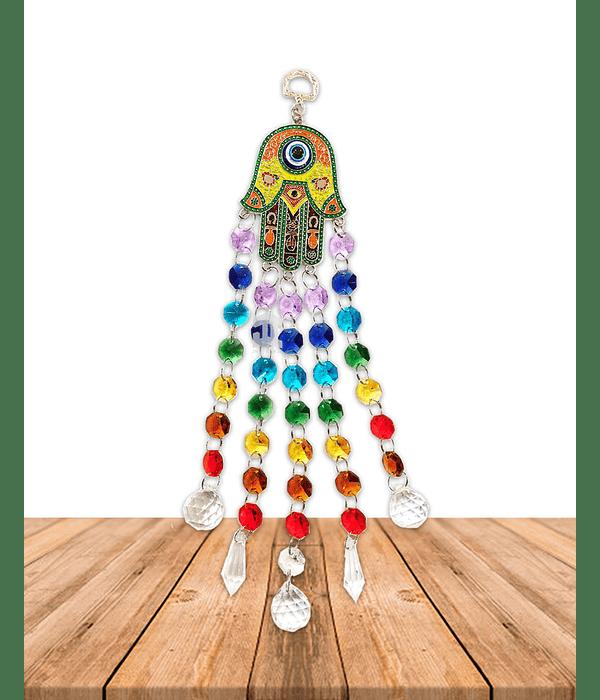 Colgante Tercer Ojo Mano de Fatima Colores JI21-42