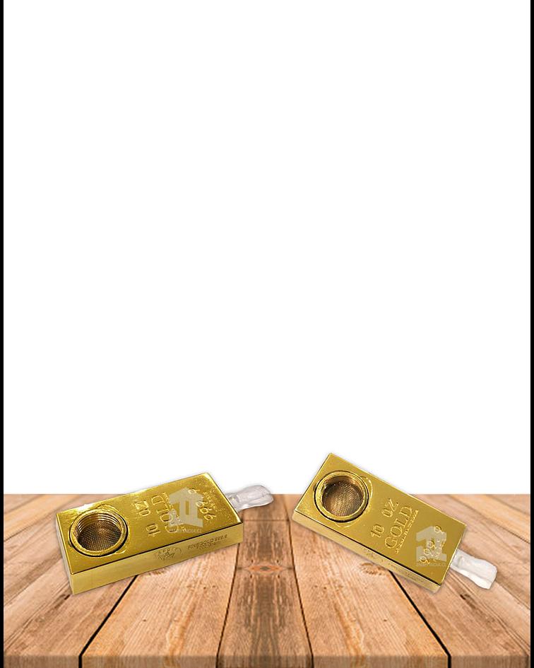Set Pipa Metal Plana Lingote de Oro DK8379
