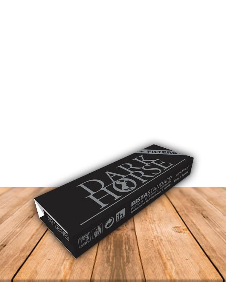 Papelillo Dark Horse Black + Tips,  Caja de 24