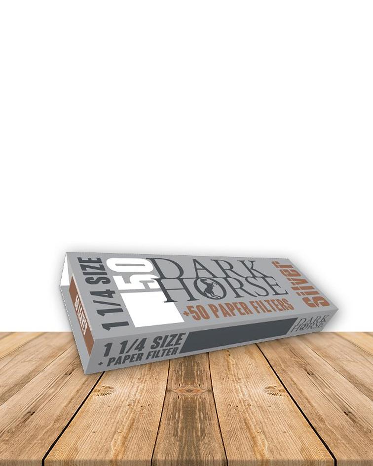 Papelillo Dark Horse 1 1/4 + Filtros SIlver Caja de 24