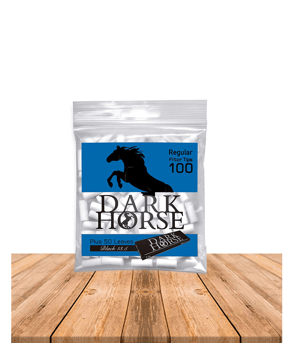 Dark Horse Filtro Slim 100 + Papelillo Black Display x 30