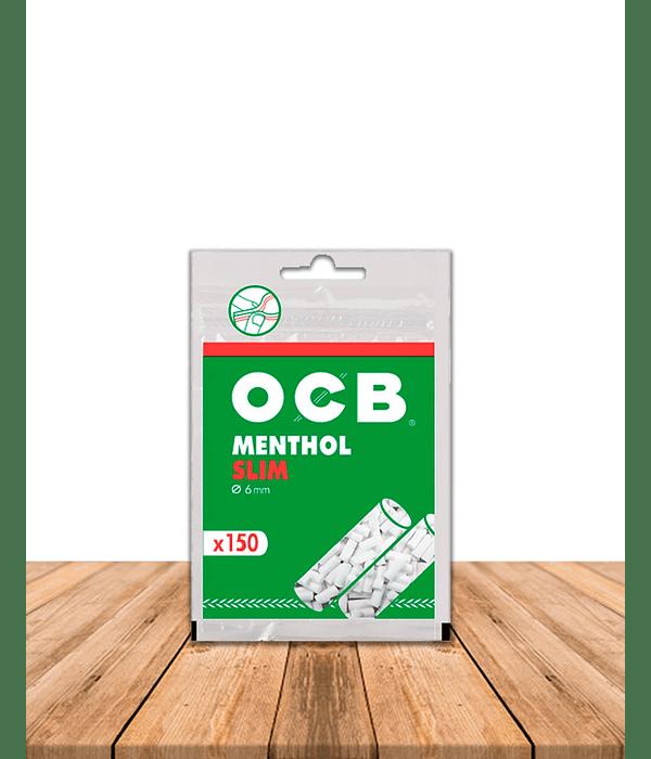 Filtro OCB Slim MENTHOL Pack de 10