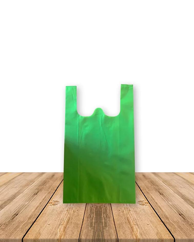 Bolsa Ecológica Tipo Camiseta 21 x 38 cms, Precio x Docena