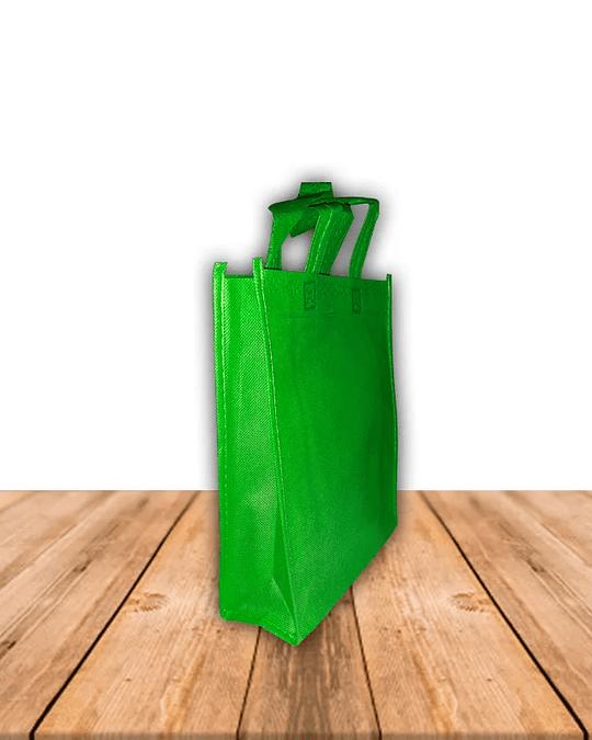 Bolsa Ecológica Con Fuelle y Manilla 20 x 25 cms, Precio x Docena
