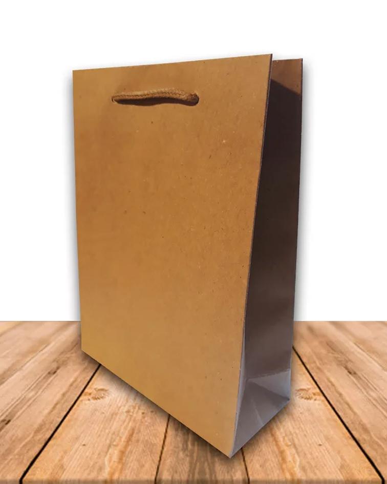 Bolsa De Papel Kraft 19 x 24,5 cms Precio x Docena