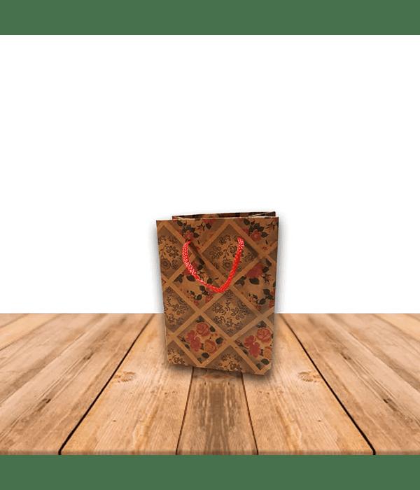 Bolsa De Papel Kraft con diseño 11 x 8 cms Precio x Docena