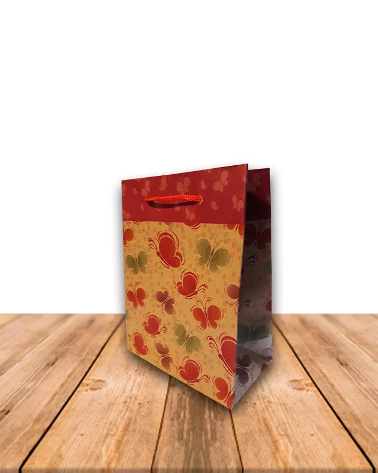 Bolsa De Papel Kraft con diseño 11,5 x 14,5 cms Precio x Docena