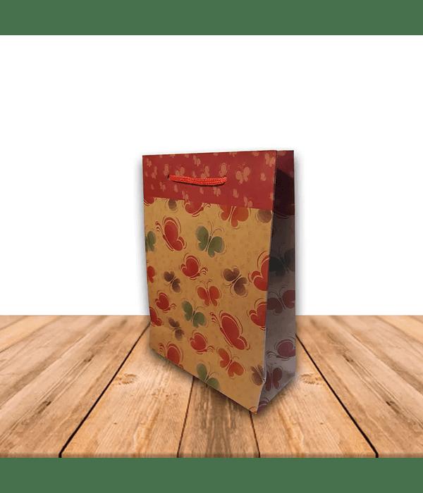 Bolsa De Papel Kraft con diseño 15 x 20 cms Precio x Docena