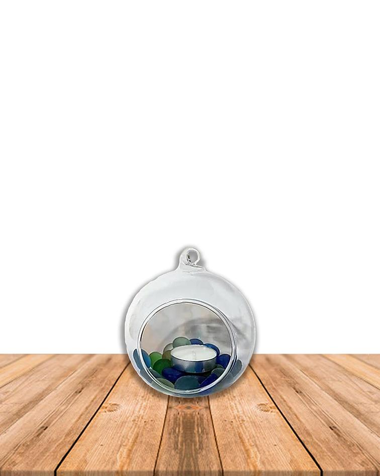 Esfera Porta Vela Colgante Mediana