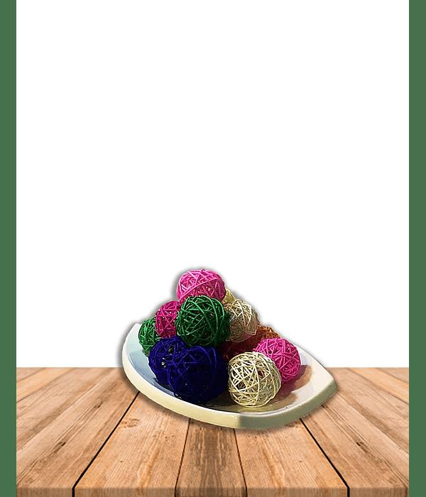 Esferas Decorativas de Mimbre