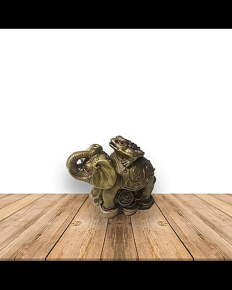 Figura de Elefante c/ Rana pequeño  JI19-187