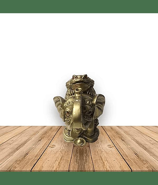Figura de Elefante c/ Rana Grande  JI19-193