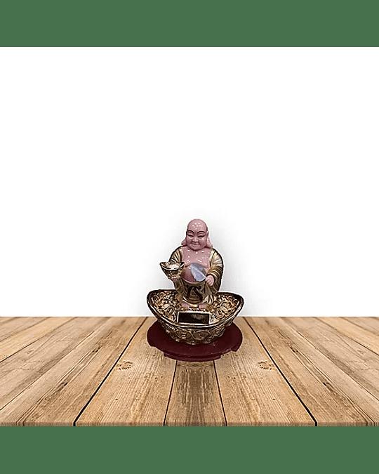 Buda de la Suerte Solar c/ Movimiento 13cm