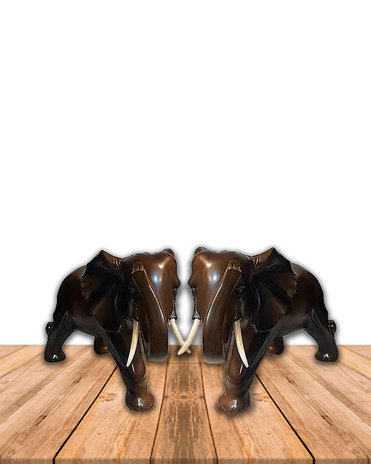Pareja De Elefantes Decorativos