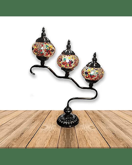 """Lámpara de Cristal de Mosaico Grande 3 faros 24"""""""
