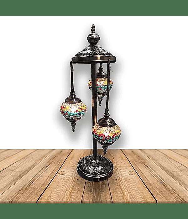 """Lámpara de Cristal de Mosaico Grande 3 faros 30"""""""