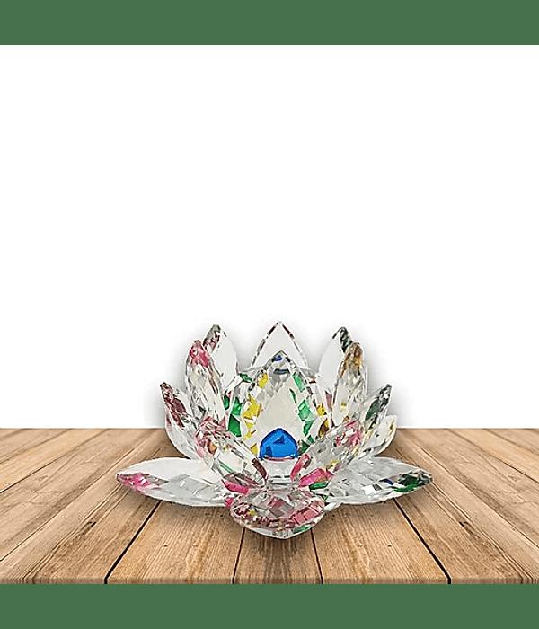 Flor de loto Cristal Color Grande 70MM