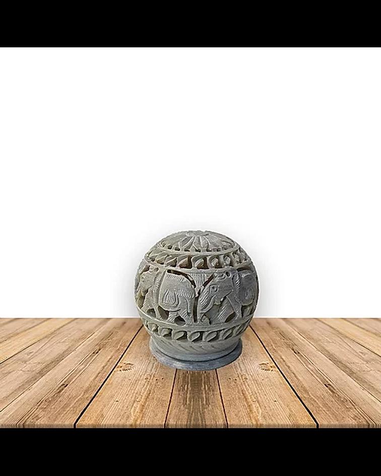 """Porta Vela Jabón Piedra 3"""" Elefante / Espiral"""