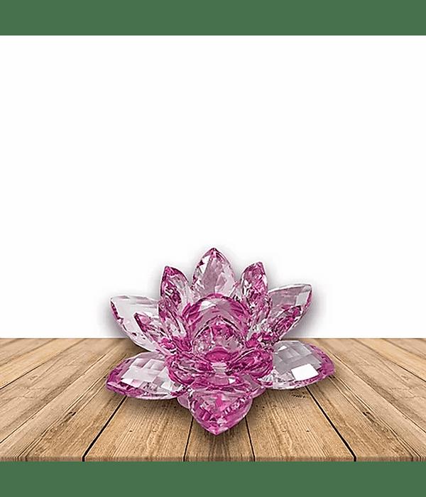 Flor de loto Cristal Grande 70MM