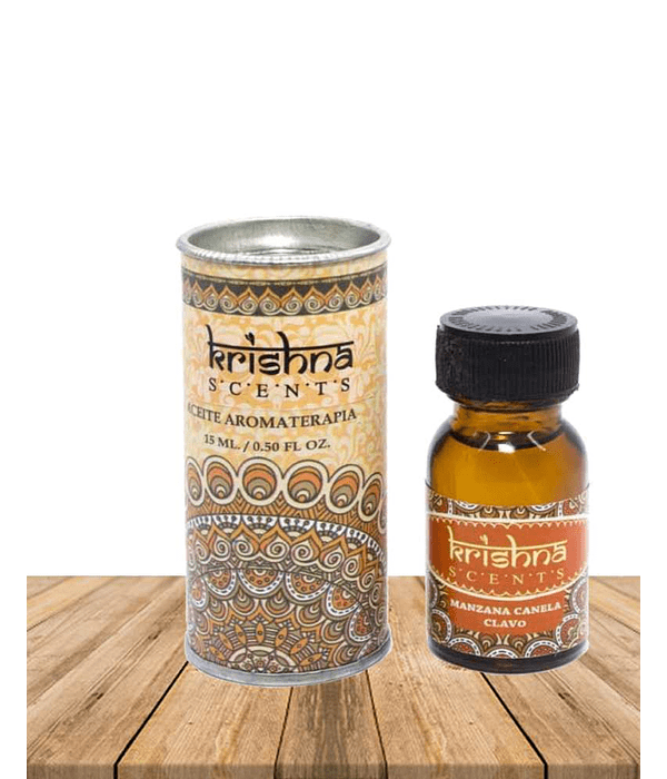 Aceite de Manzana Canela Clavo Krishna 15 gr