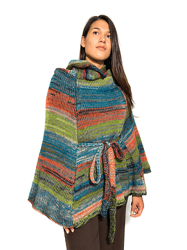 Multicolored Wool Cape