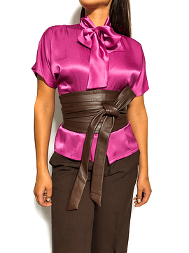 Brown Wide Waist Belt