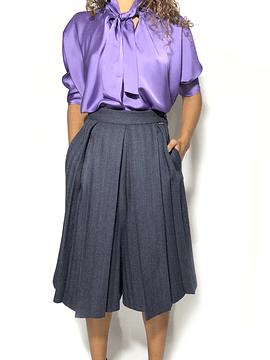 Patterned Skirt Pants
