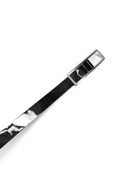 Black Patent Leather Belt