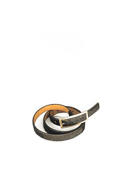 Brown Pony Fur Belt