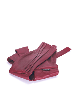 Burgundy Wide Waist Belt