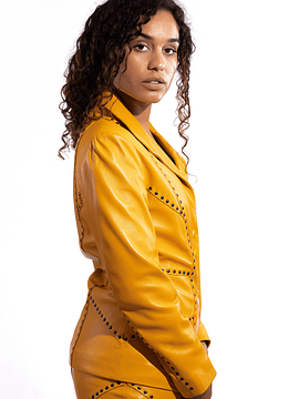 Yellow Leather Suit