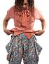 Patterned Cowl Pants