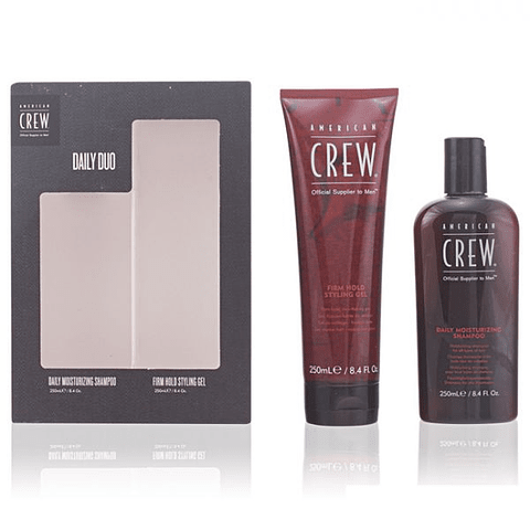 AMERICAN CREW | DAILY MOISTURIZING SHAMPOO Coffret (daily moisturizing shampoo 250ml + firm hold gel 250ml)