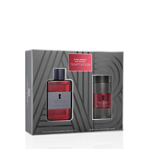 ANTÓNIO BANDERAS | THE SECRET TEMPTATION Coffret (EdT 100ml + After Shave Lotion 50ml + Deo Spray 150ml)
