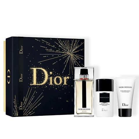DIOR HOMME SPORT Coffret (edt vapo 125 ml + deo stick 75 gr + as balm 50 ml)